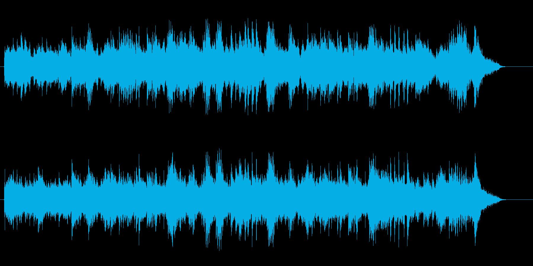宇宙的な環境音楽風ピアノアコースティックの再生済みの波形
