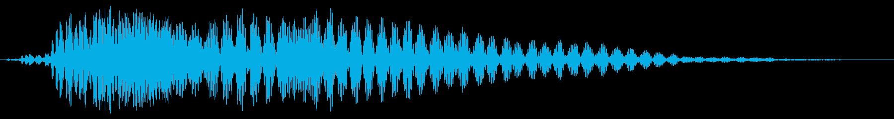 ゥオ〜ンとかすかに響く効果音の再生済みの波形