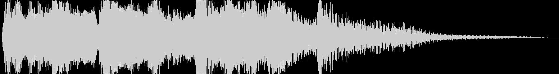 アニメのCM前後などに かわいいオケの未再生の波形