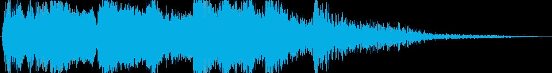 アニメのCM前後などに かわいいオケの再生済みの波形