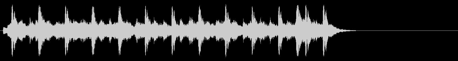 懐古的で温かいセミクラ(Aメロ)の未再生の波形