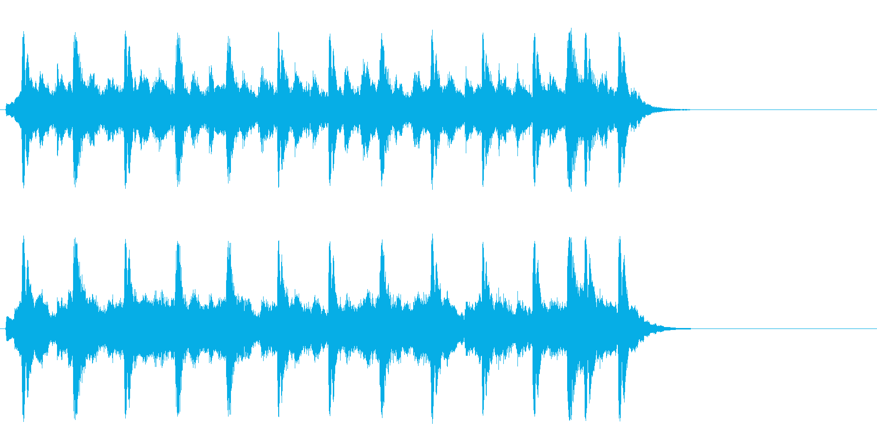 懐古的で温かいセミクラ(Aメロ)の再生済みの波形