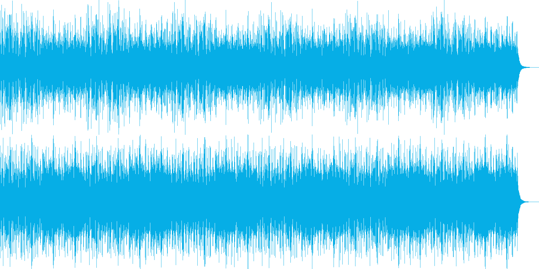 全パートループ版の再生済みの波形