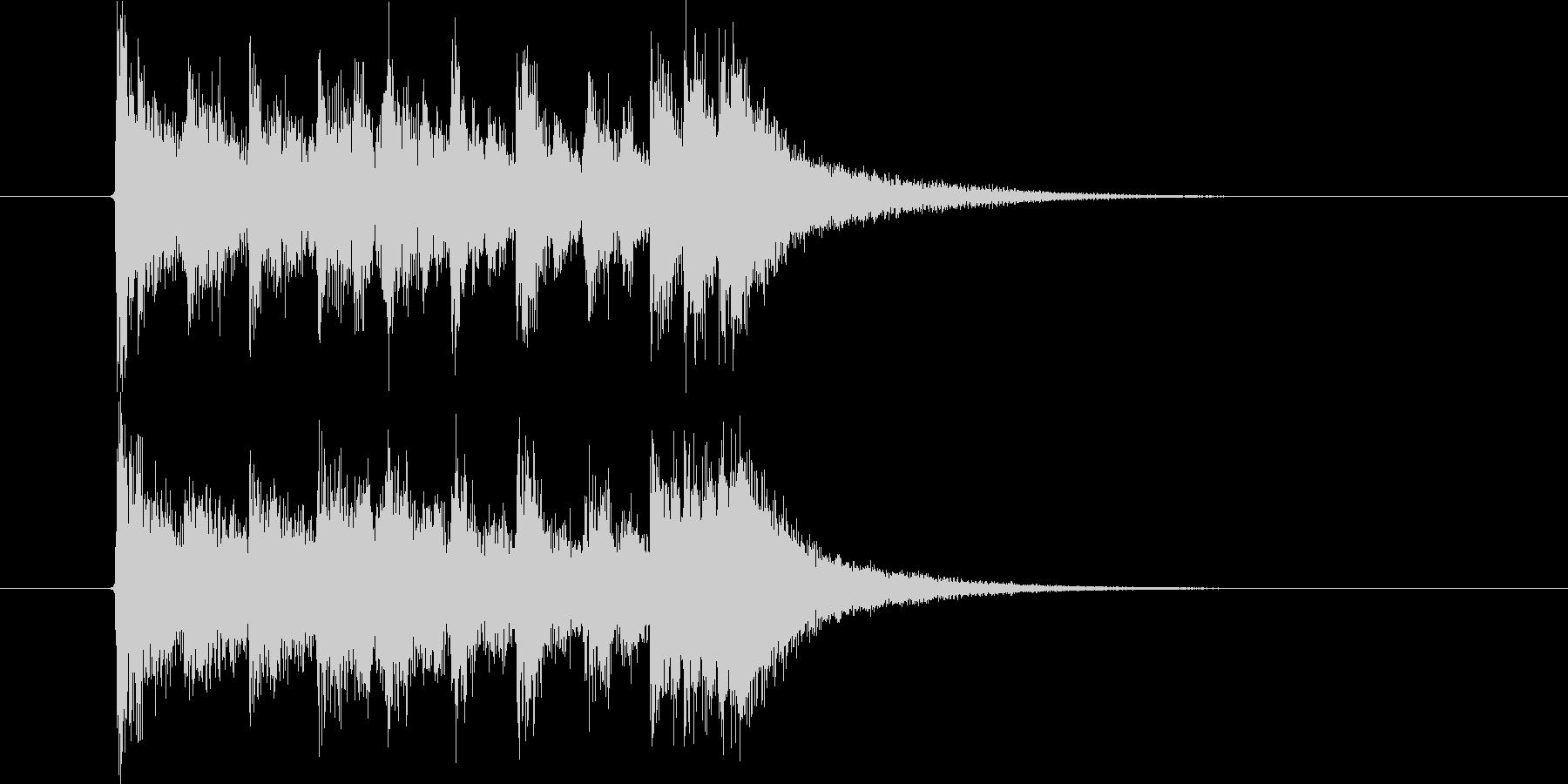 激しく勢いのあるオーケストラの未再生の波形