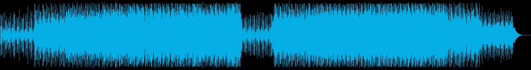 四つ打ちのかわいいシンセミュージックの再生済みの波形