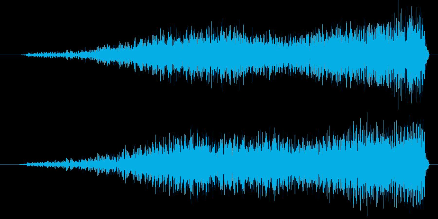 ブワーン (登場の効果音)の再生済みの波形
