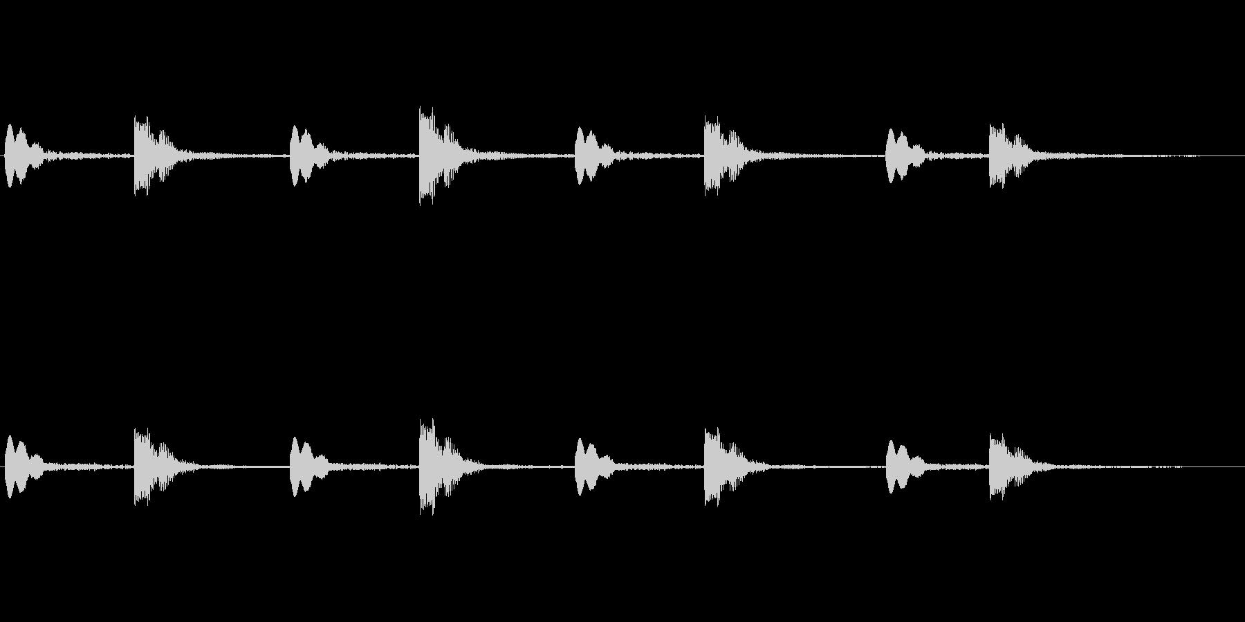 「パーン ビコン」(シーティング的な音)の未再生の波形