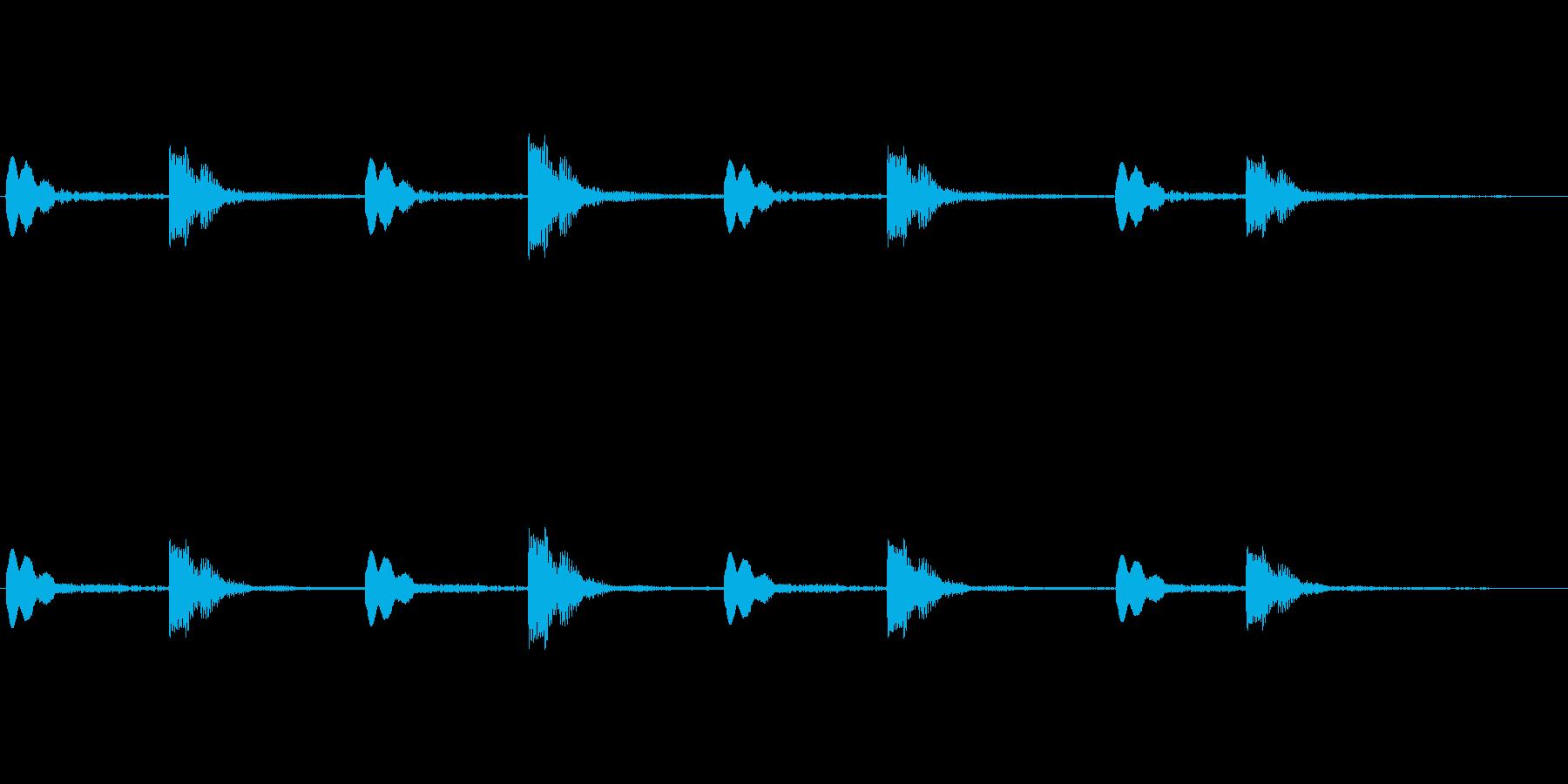 「パーン ビコン」(シーティング的な音)の再生済みの波形