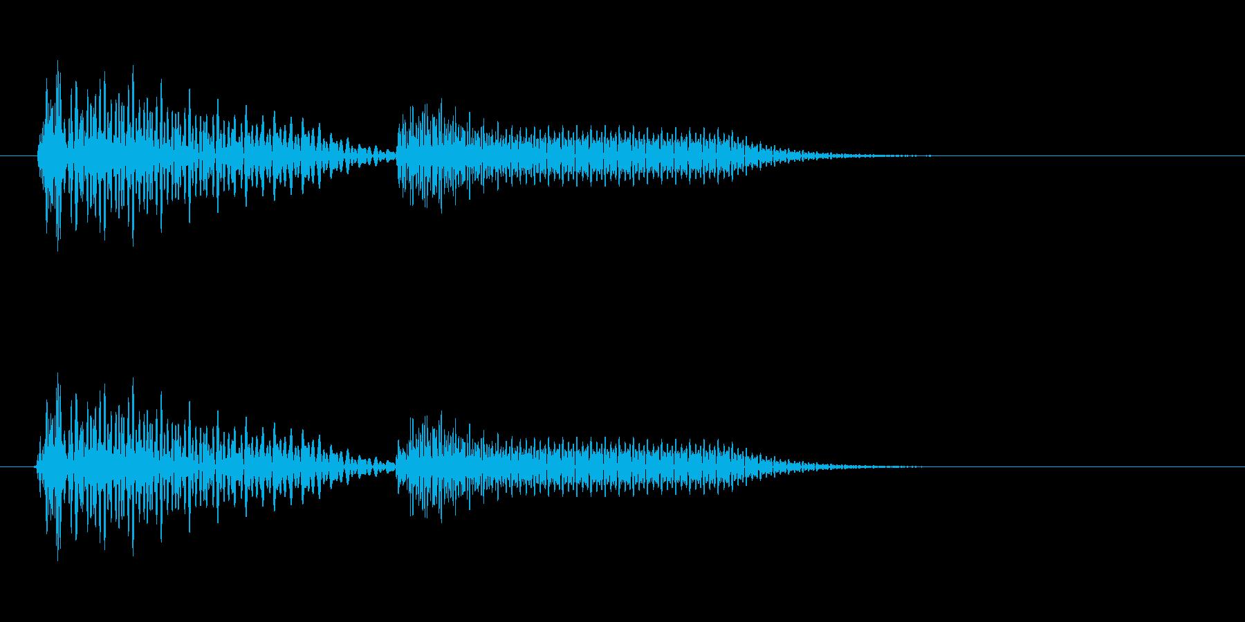 ドピ(クリック・プッシュ音)の再生済みの波形