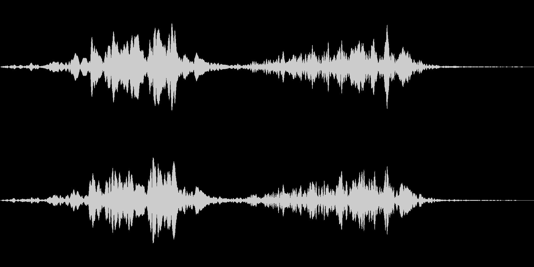 スペース系効果音(高音)の未再生の波形