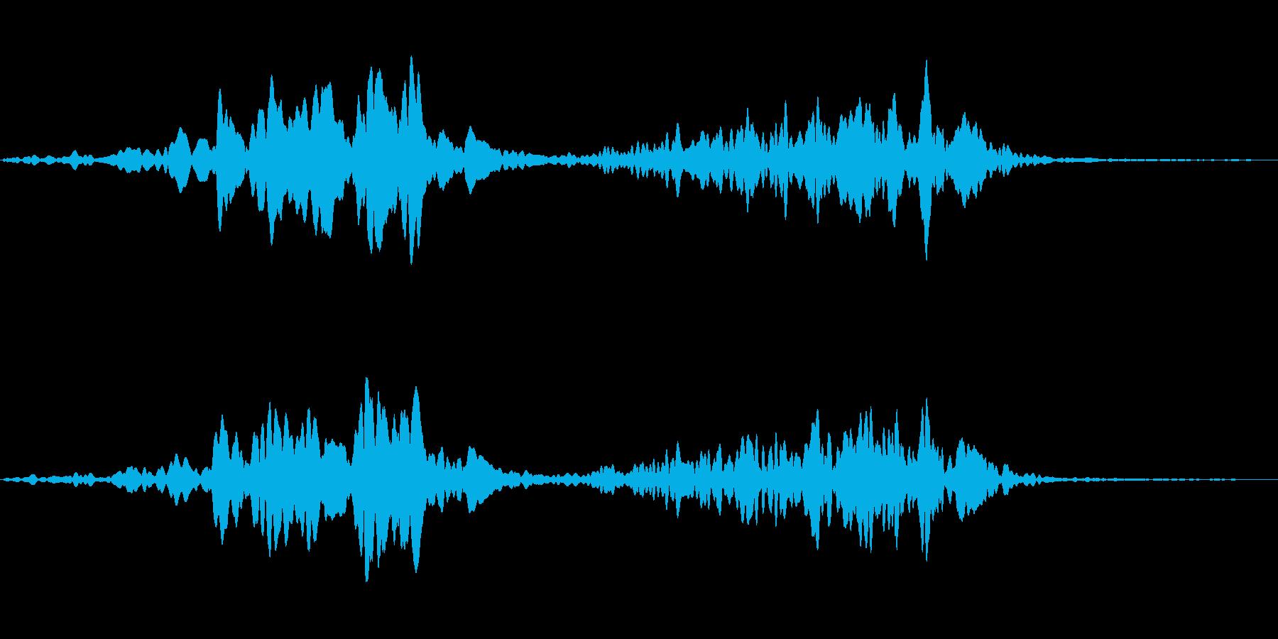 スペース系効果音(高音)の再生済みの波形