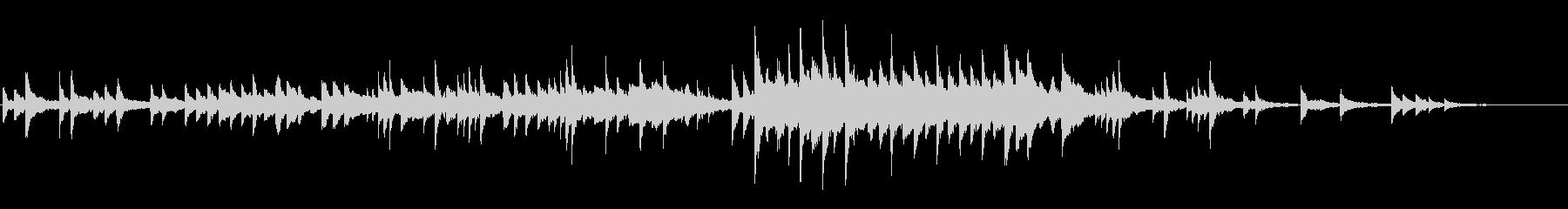 ゆったりとシンプルで切ない和風ピアノソロの未再生の波形