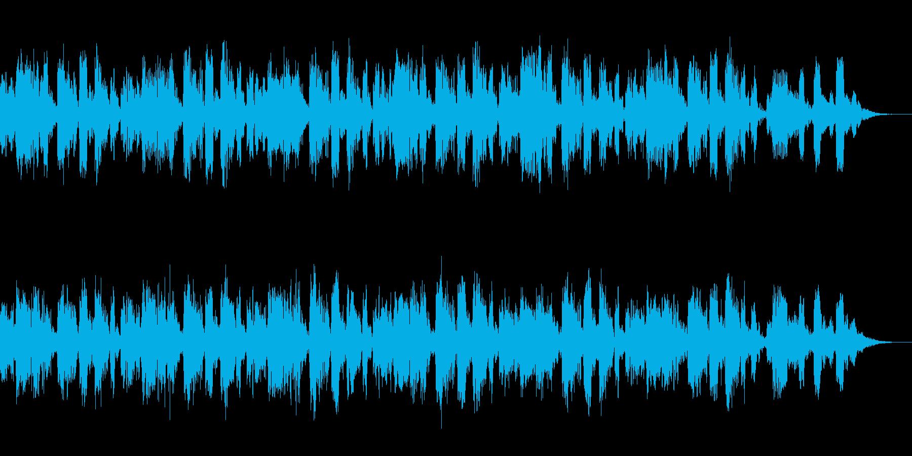 リラックスとしたポップステイストのBGMの再生済みの波形