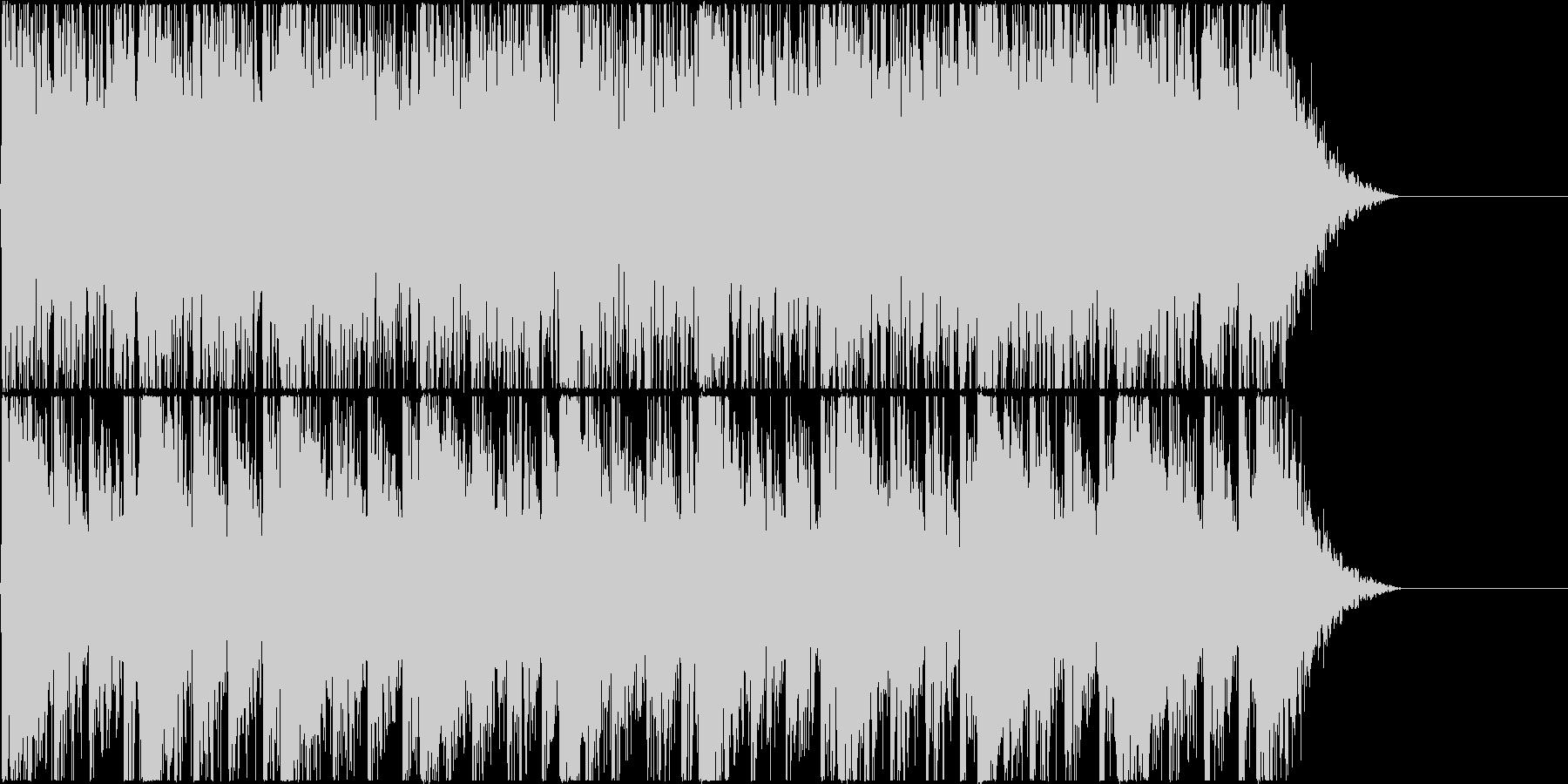 打楽器+雷(撃つ音)の未再生の波形