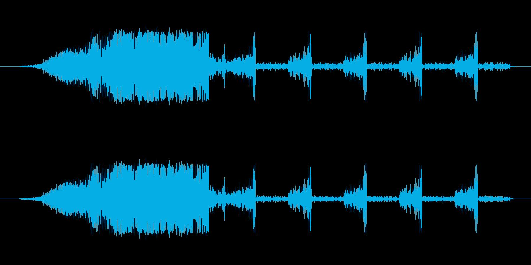シュシュシュの再生済みの波形