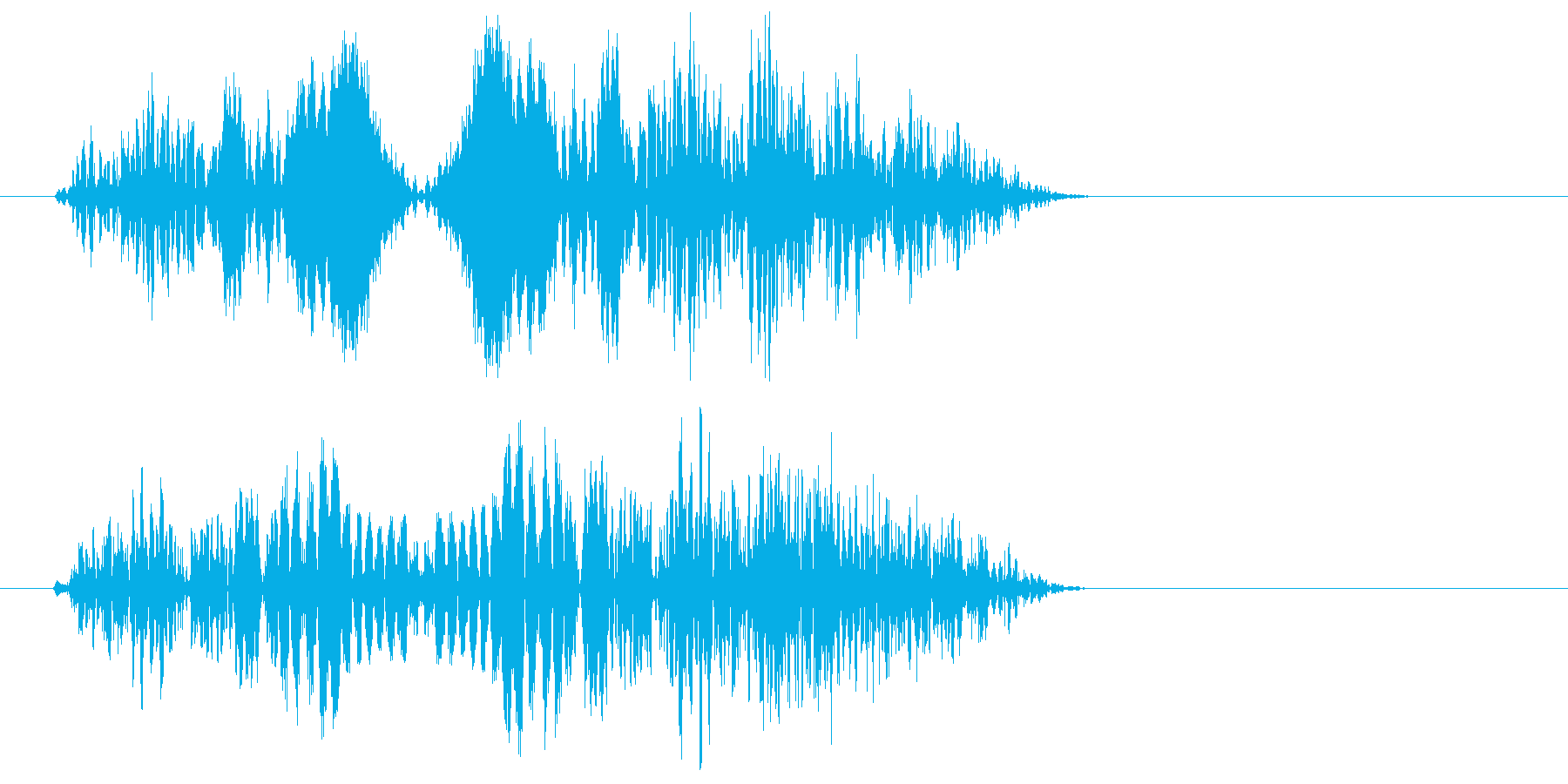 ぷよっとした効果音、機械音の再生済みの波形