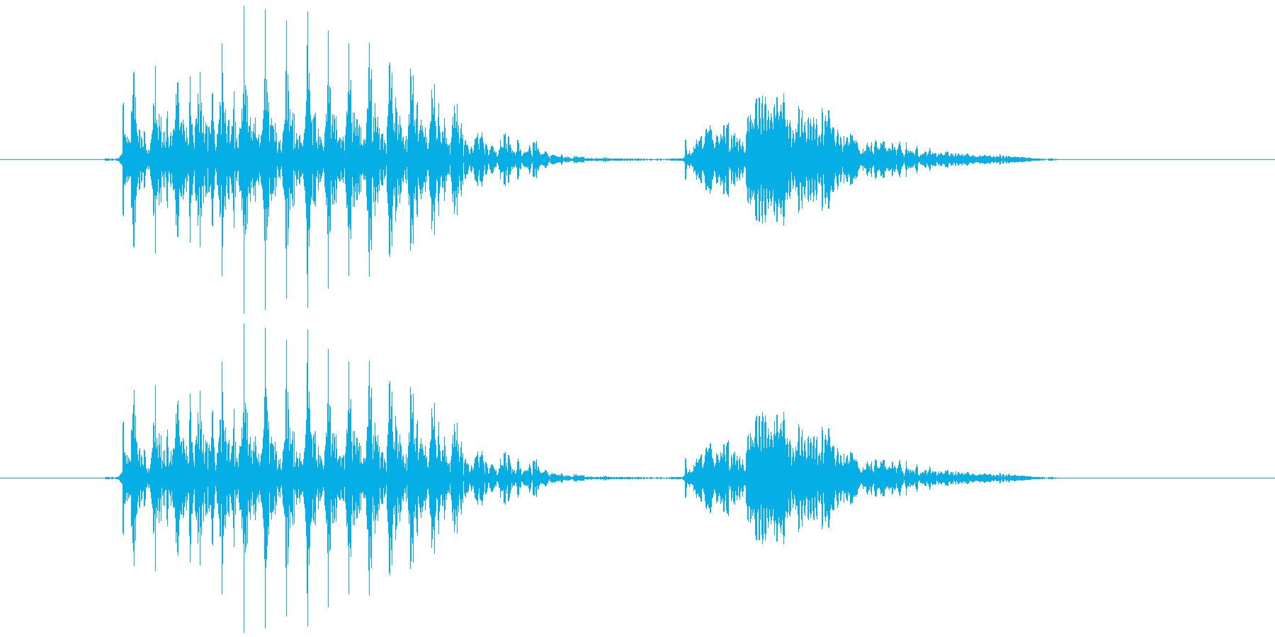 8  (eight, 英語、米国男性声…の再生済みの波形