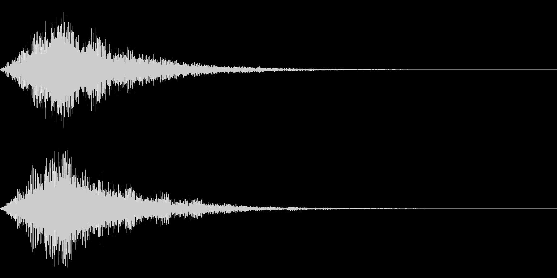 ズォォーン(SF的)の未再生の波形
