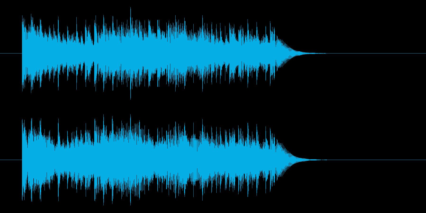 少し短い重みのあるアップテンポ曲の再生済みの波形