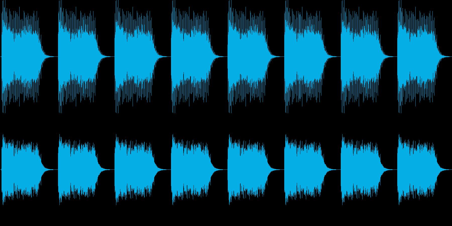 【黒電話】 ジリリリリン 呼び出し音の再生済みの波形