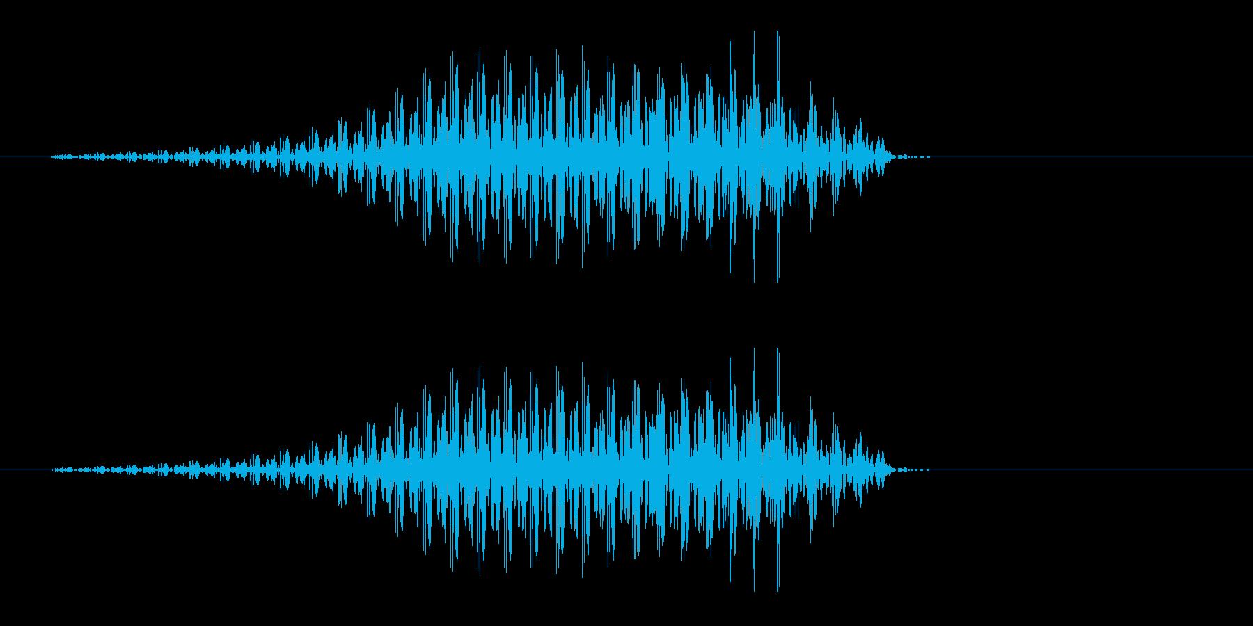 うえっ(人体からでる音、嘔吐音)の再生済みの波形