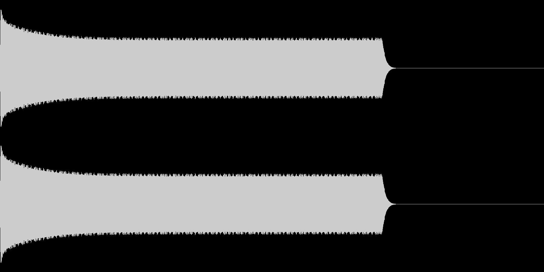 ピピピピピピ…防犯アラームの音の未再生の波形