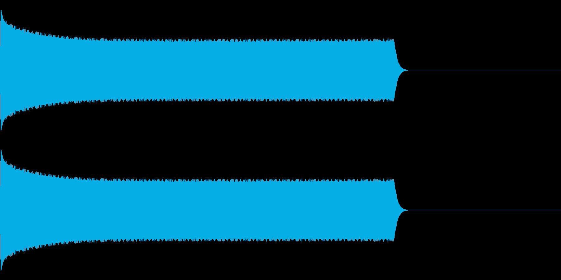 ピピピピピピ…防犯アラームの音の再生済みの波形