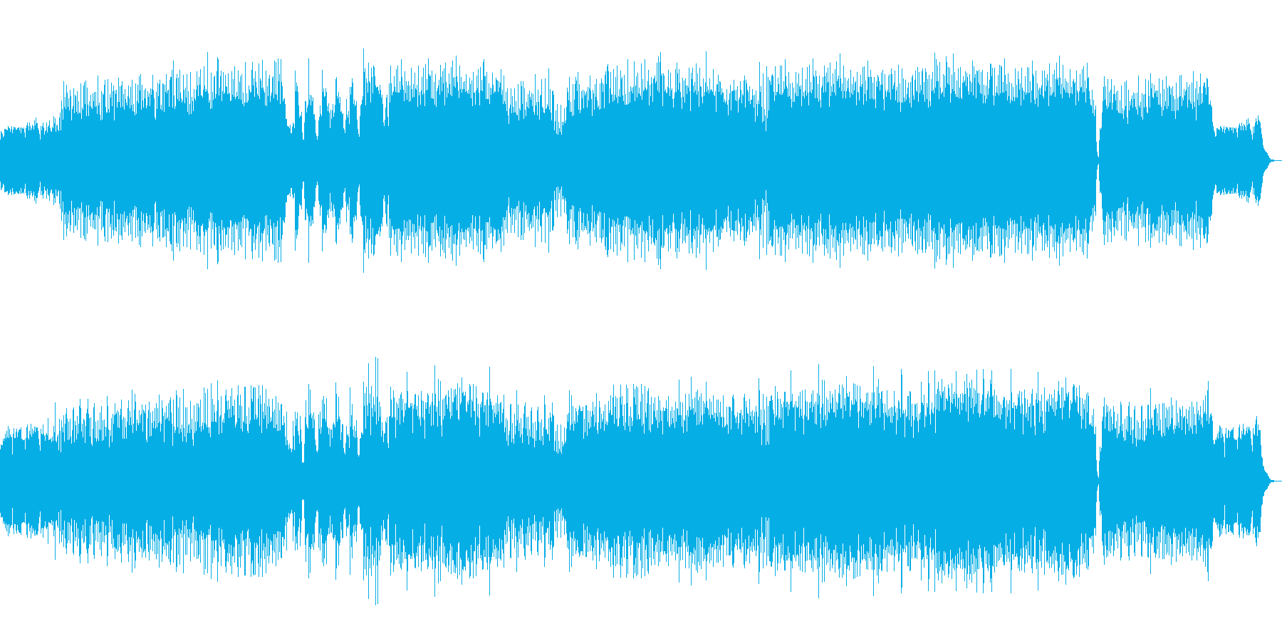 和風ボックスビートの再生済みの波形