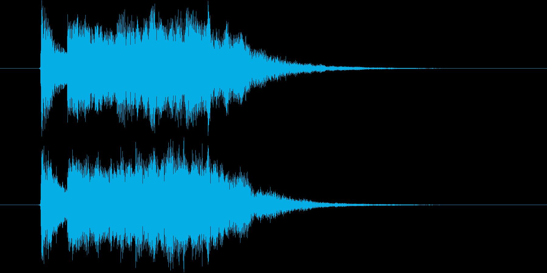 シンプルで勢いあるジングルの再生済みの波形