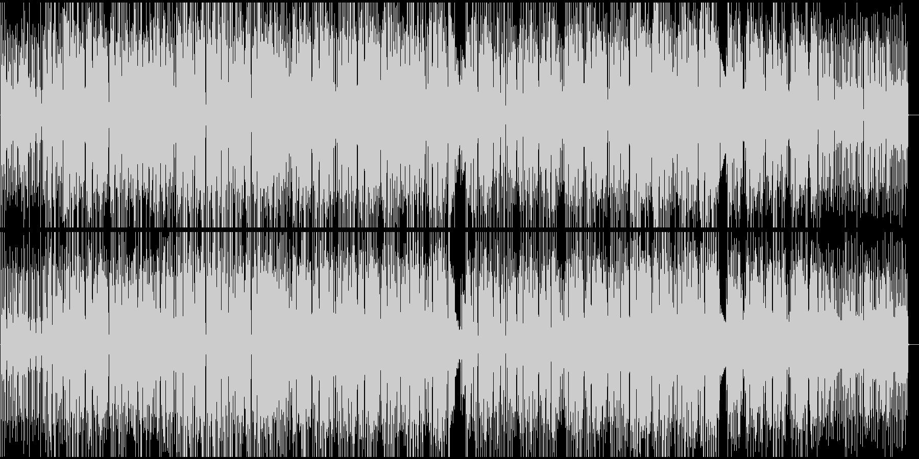 ジャジーな雰囲気のブレイクビーツBGMの未再生の波形