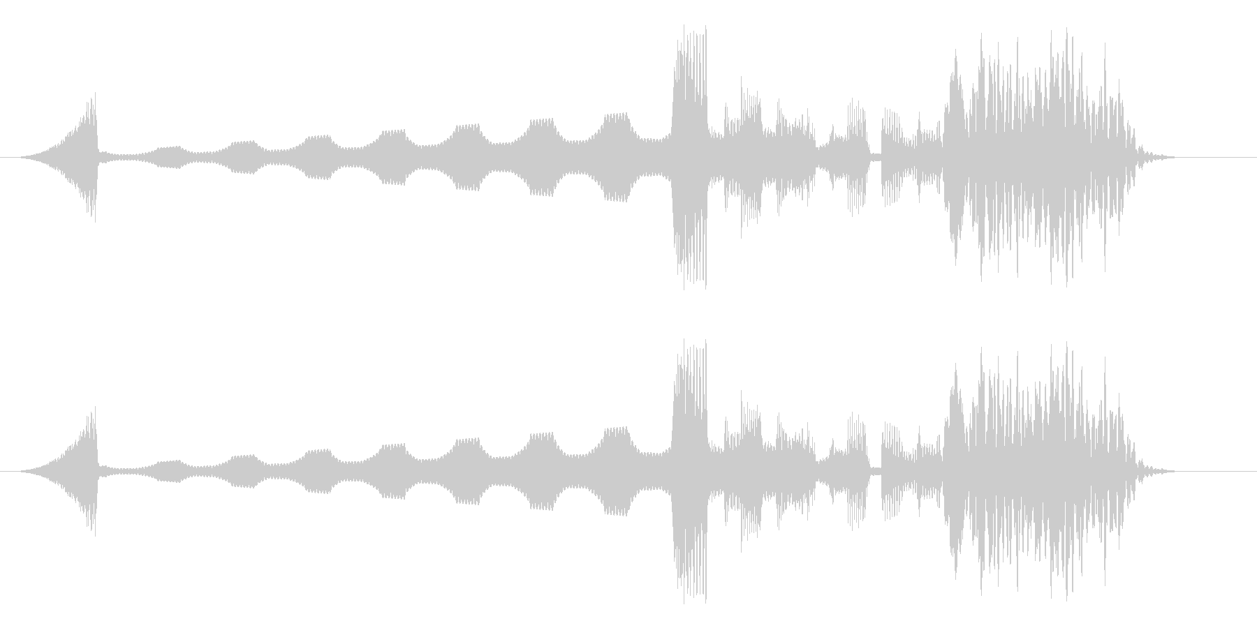 電子音の短めジングルの未再生の波形