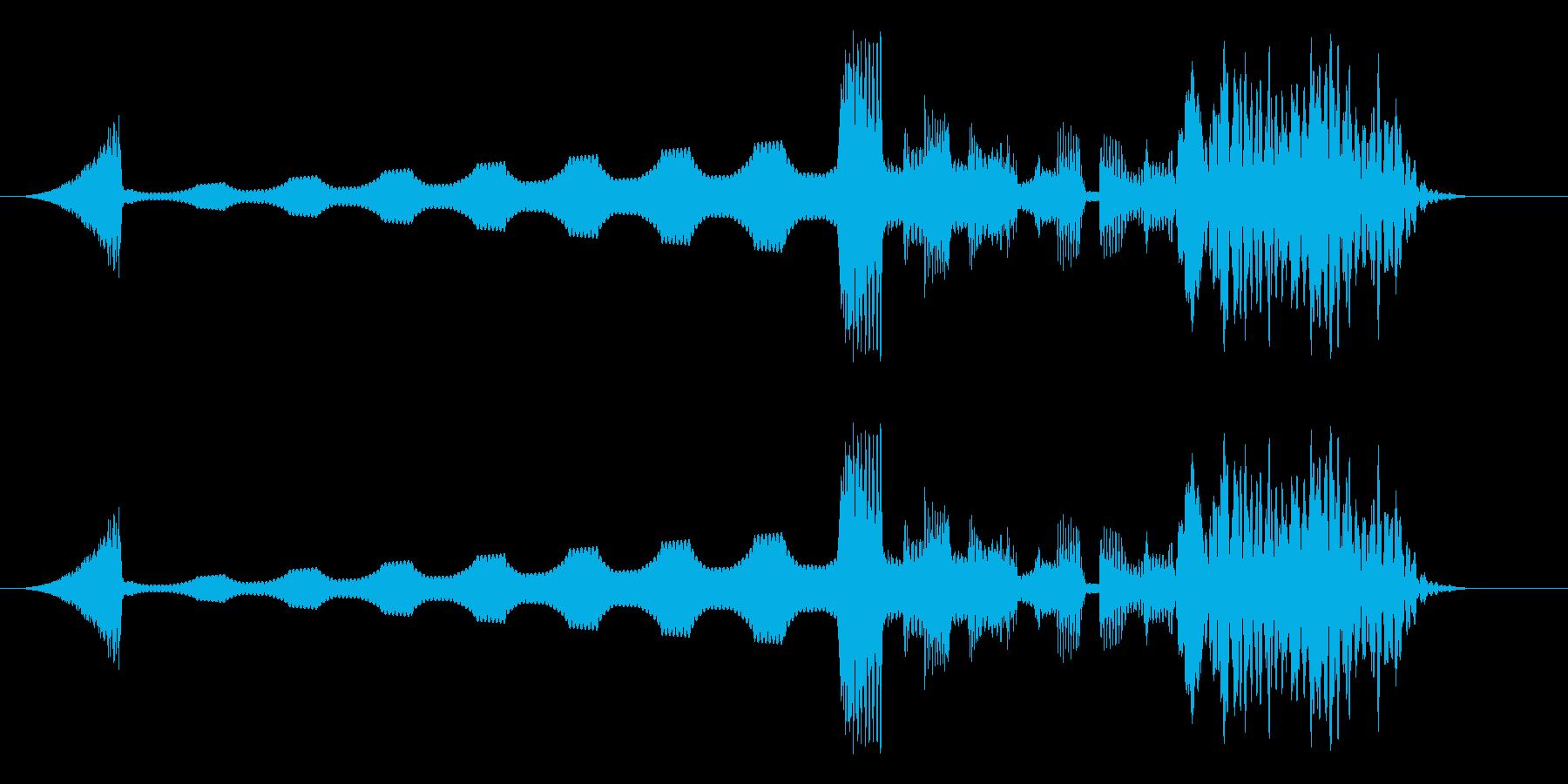 電子音の短めジングルの再生済みの波形
