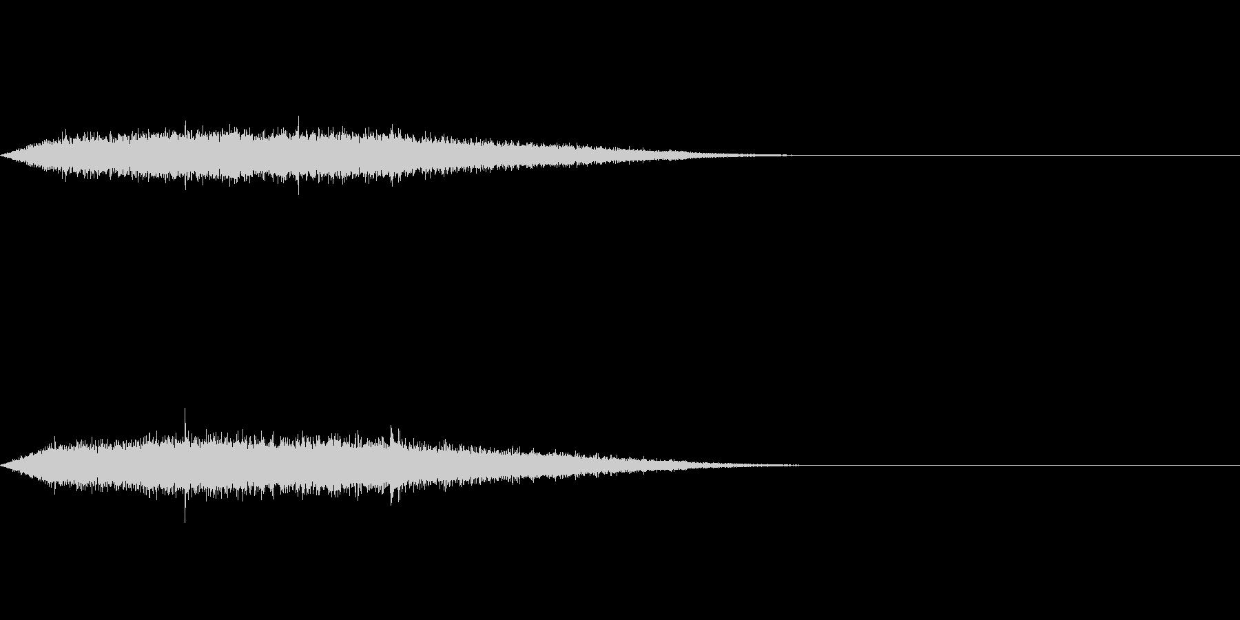 シュー(タイトルメニューから各項目)の未再生の波形