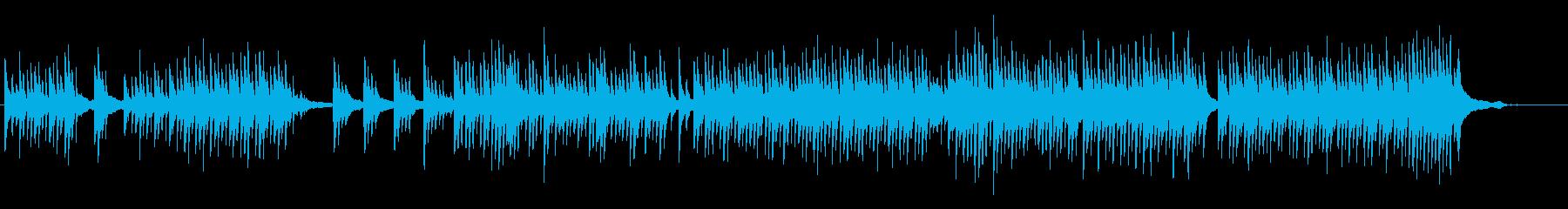 不気味なトーンのピアノ曲の再生済みの波形
