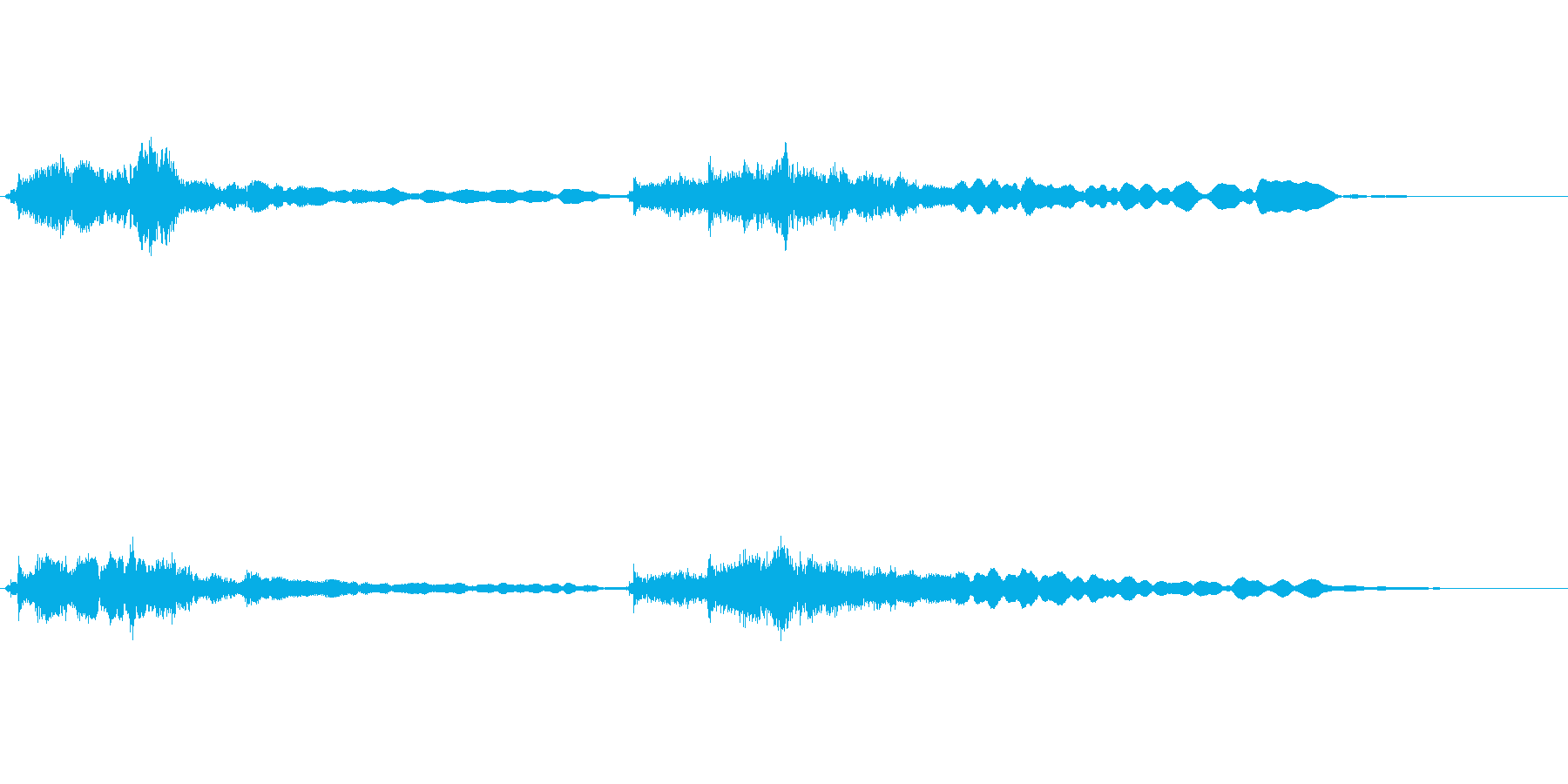 和風ジングル(時代劇風)の再生済みの波形
