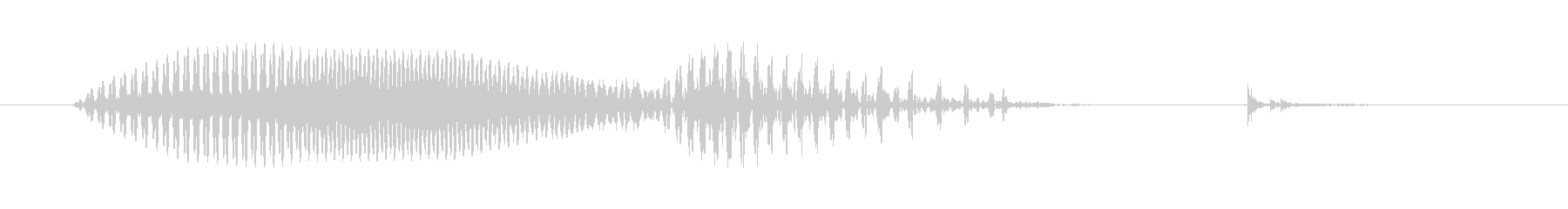 Music (ミュージック、英語、米国…の未再生の波形