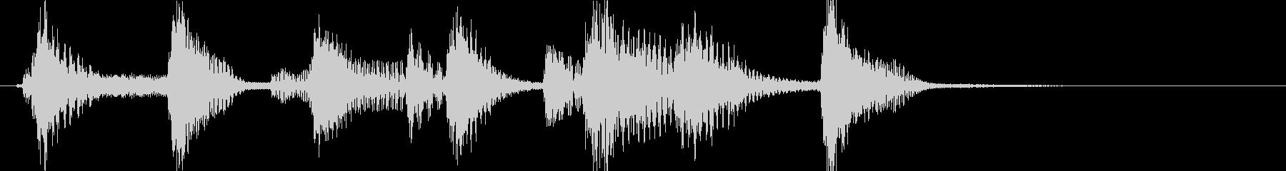 ピアノ、スキップの感じのんの未再生の波形