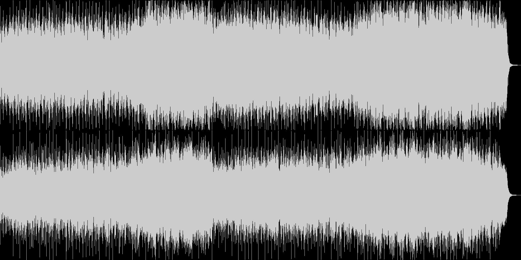 ミステリアスなファンタジックジャズワルツの未再生の波形