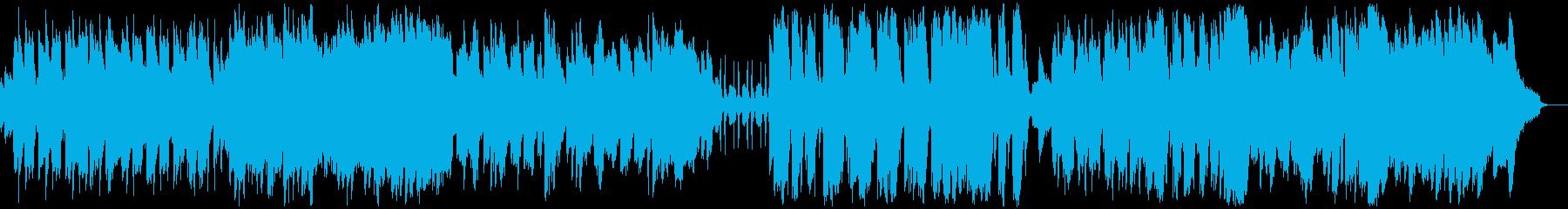 明るいお洒落なアコーディオンBGMの再生済みの波形