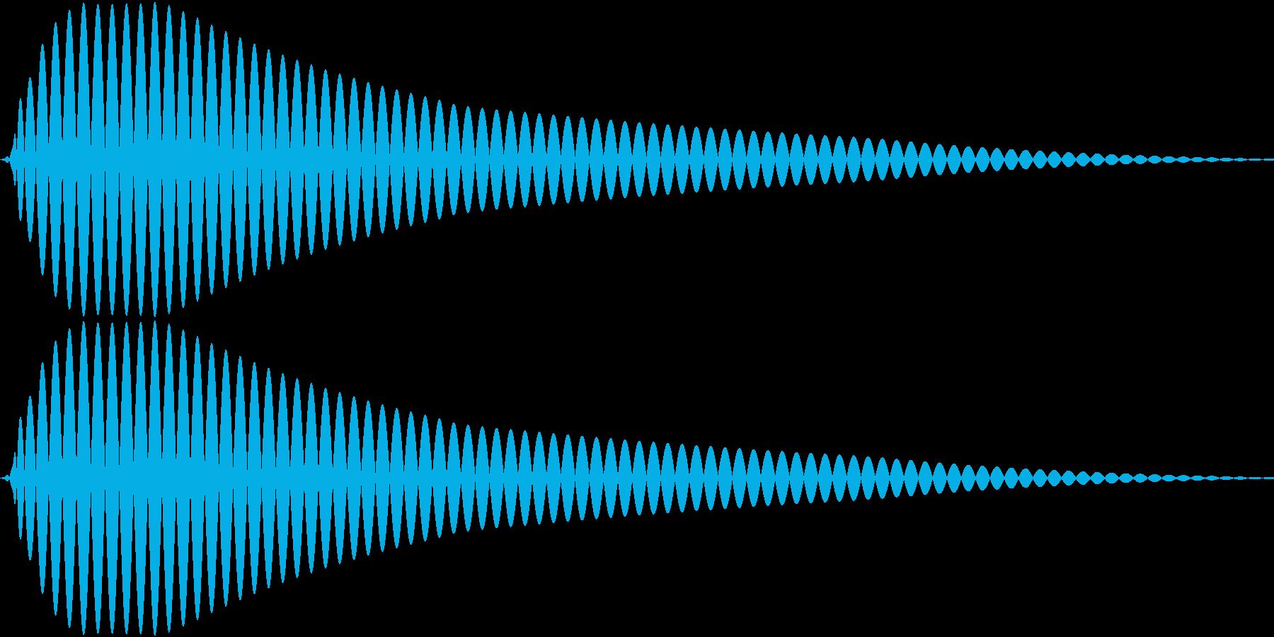 AppCommand タッチ&クリックの再生済みの波形