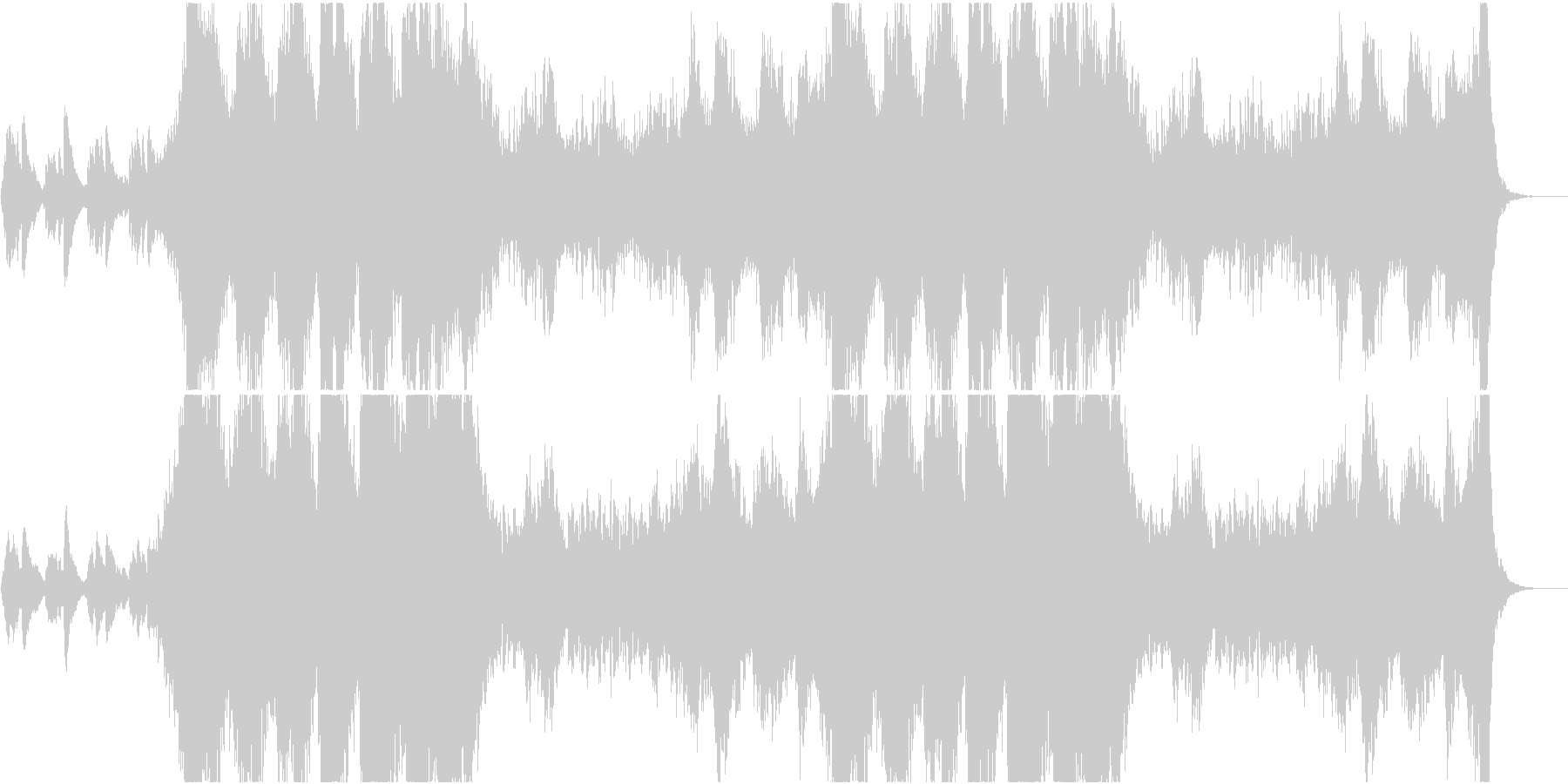 ホラー系壮大なサスペンス映画テーマ曲の未再生の波形