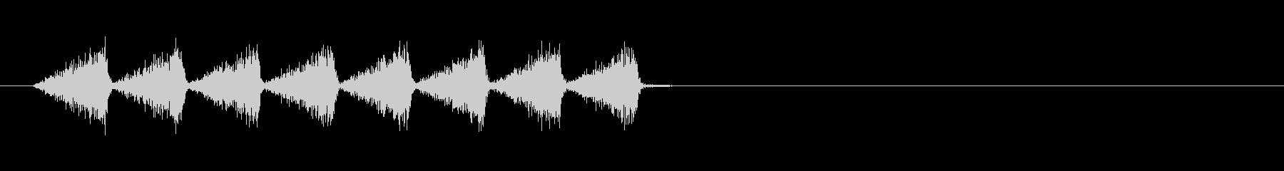カサカサ(虫、素早く移動、動作)の未再生の波形