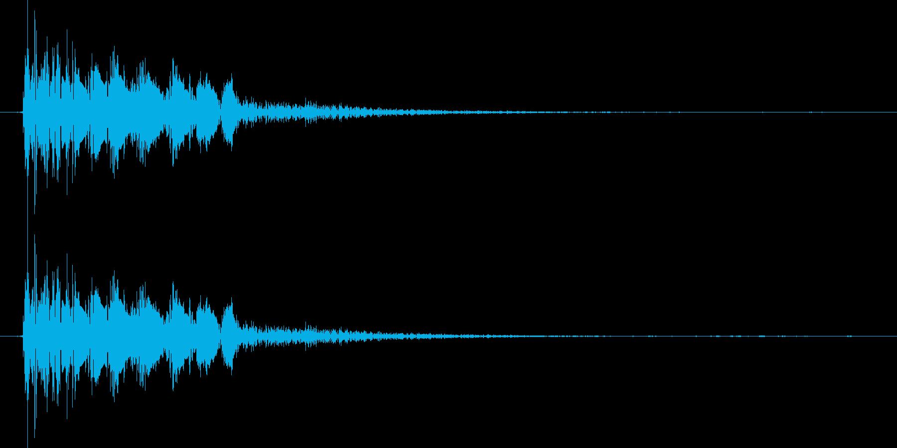 打撃 衝撃音の再生済みの波形