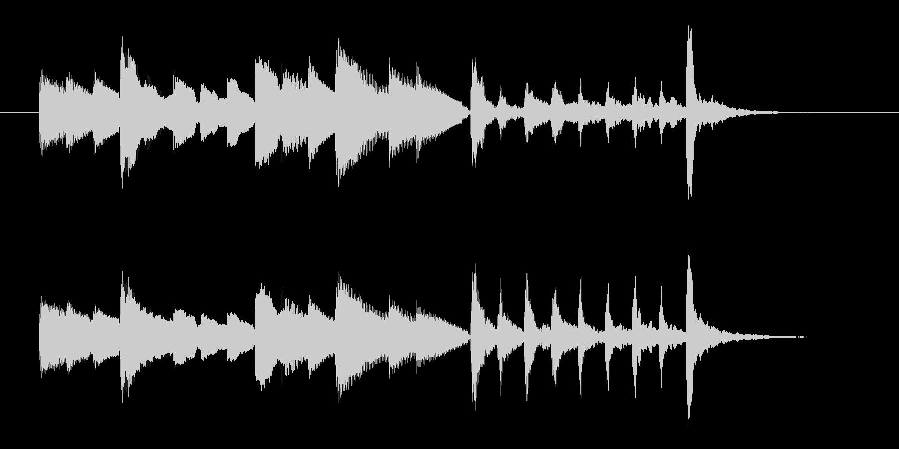 オルゴールのような優しいメロディのポップの未再生の波形