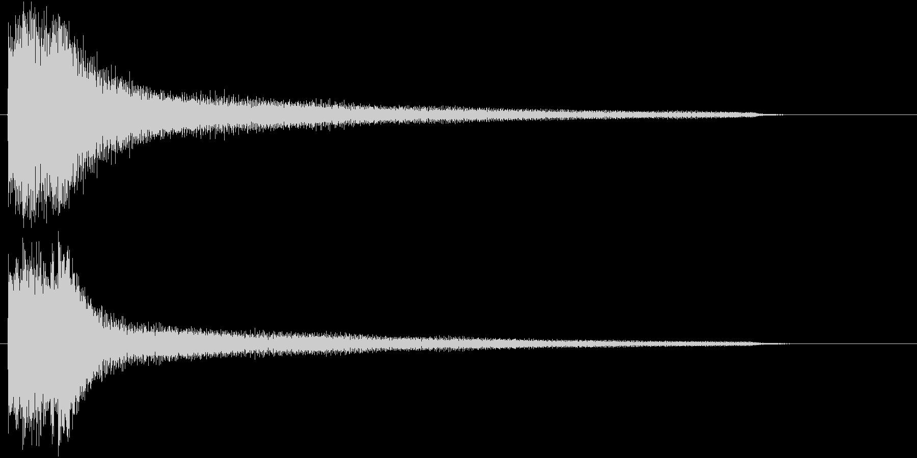 エンディング・ゲームオーバーなSE 1の未再生の波形