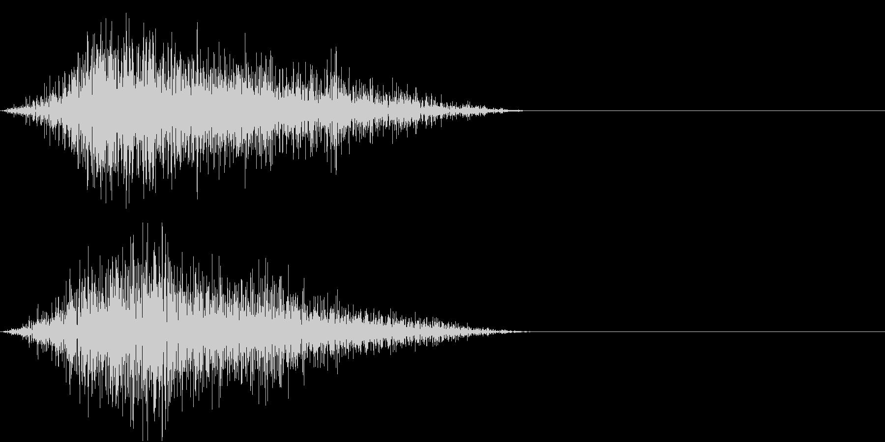 GAME ミス・エラー・キャンセル音の未再生の波形