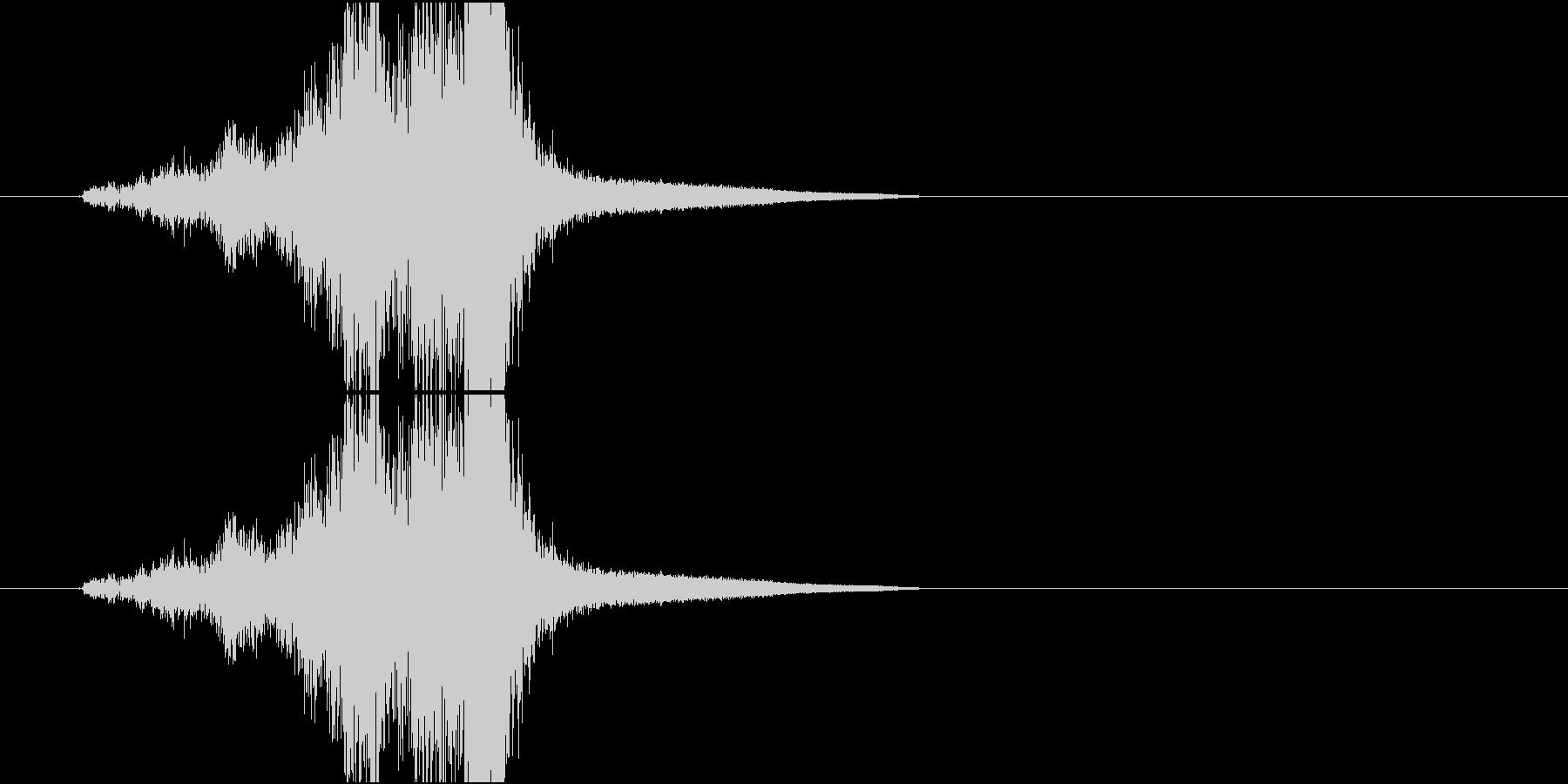 Katana 剣と剣が擦れ合う戦闘音の未再生の波形