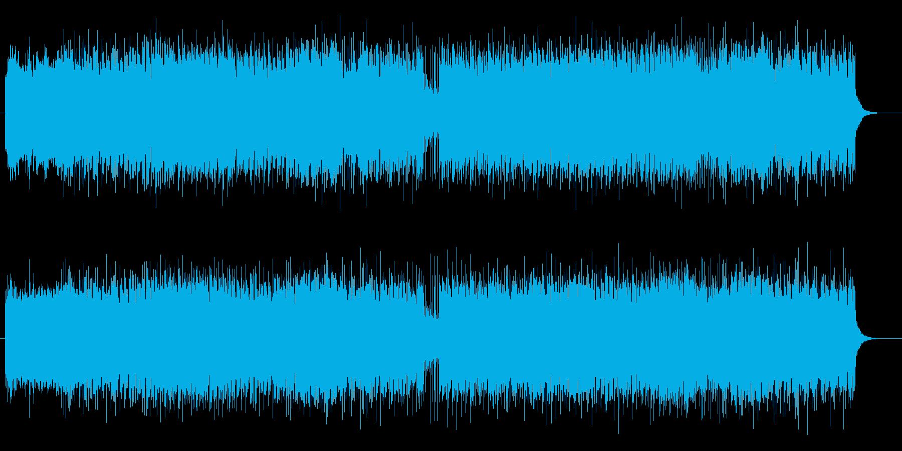 激しく疾走感のあるギターサウンドの再生済みの波形