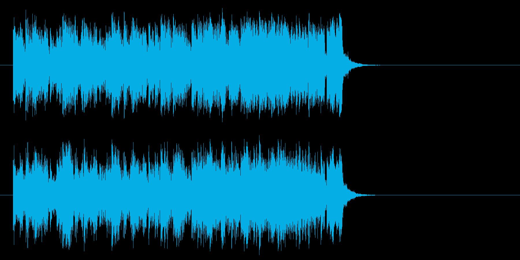 明るいオープニングポップ(サビ)の再生済みの波形