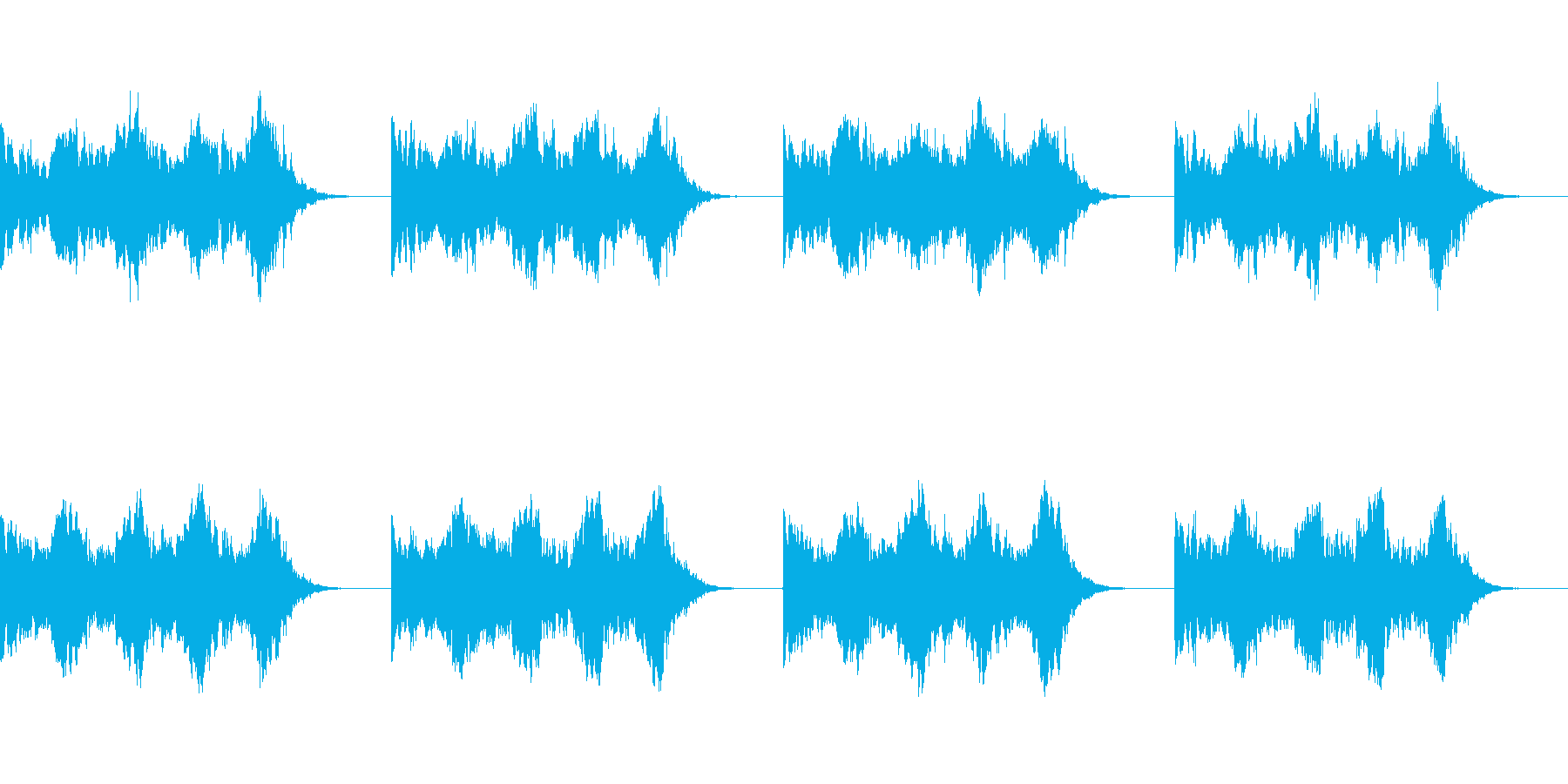 【アラーム01-2L】の再生済みの波形